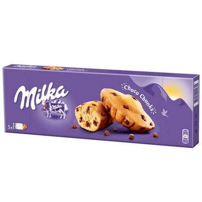 Бисквитные кексы с кусочками шоколада Milka Chunks 140 гр, фото 1