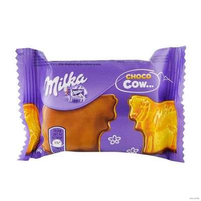 Хрустящее печенье облитое молочным шоколадом Milka Choco Cow 40 гр, фото 1