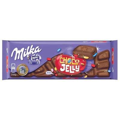 Шоколад с мармеладом шоколадным драже и шипучками Milka Choco Jelly 250 гр, фото 1
