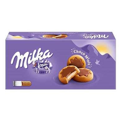 Песочное мини-печенье с молочным кремом и шоколадом Milka Choco Minis 150 гр, фото 1