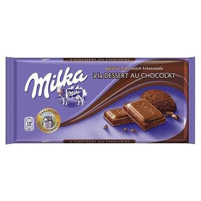 Молочный шоколад с шоколадным муссом Milka Desert au Chocolate 100 гр, фото 1