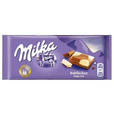 Молочный и белый шоколад Milka Happy Cow 100 гр, фото 1