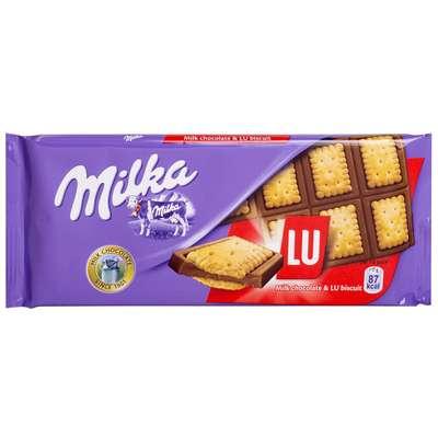 Молочный шоколад со сдобным печеньем Milka LU 87 гр, фото 1