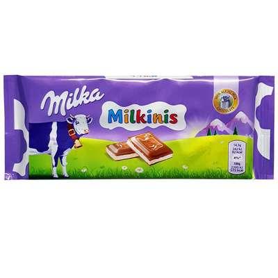Альпийский молочный шоколад с молочным кремом Milka Milkinis 100 гр, фото 1