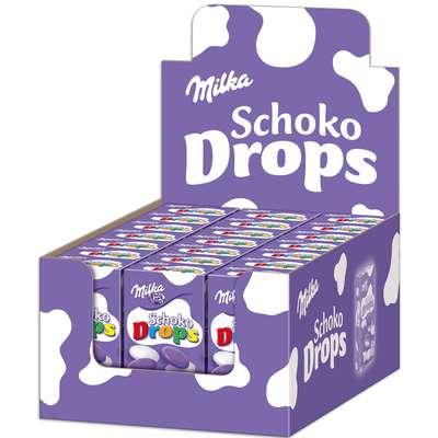 Шоколадное драже с молочным кремом Milka Milkinis Schoko Drops 42 гр, фото 2