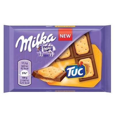 Молочный шоколад с крекером Milka TUC 35 гр, фото 1