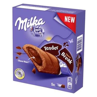 Шоколадные бисквиты с шоколадным кремом Milka Tender Break Choco 130 гр, фото 1