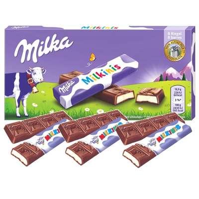 Мини-плитки молочного шоколада с молочным кремом Milka Milkinis Sticks 87,5 гр, фото 1