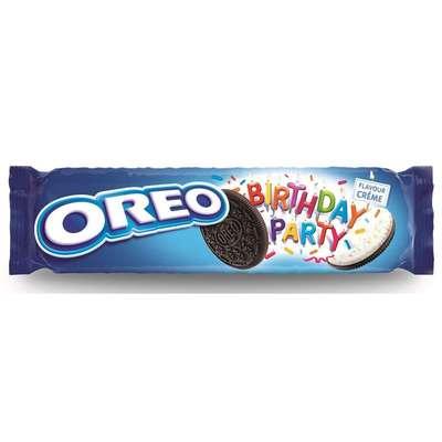 Печенье с ванильной начинкой Oreo Birthday Party 154 гр, фото 1