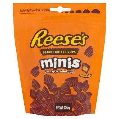 Шоколадные конфеты мини кексы c арахисовым маслом Reese's Minis 226 гр, фото 1