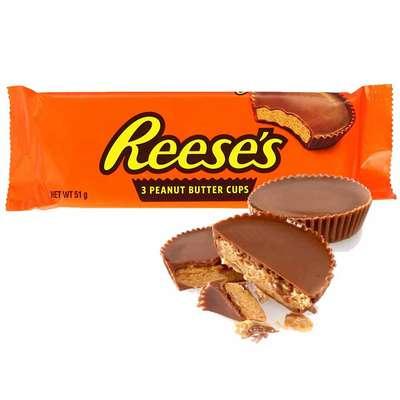 Шоколадные тарталетки с арахисовой пастой Reese's Peanut Butter Cups 51 гр, фото 1