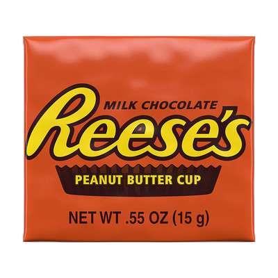 Шоколадные тарталетки с арахисовым маслом Reese's Peanut Butter Cups 8 Snack Size 124 гр, фото 2
