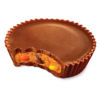 Шоколадные тарталетки с арахисовой пастой и хрустящим драже Reese's Pieces 42 гр, фото 3
