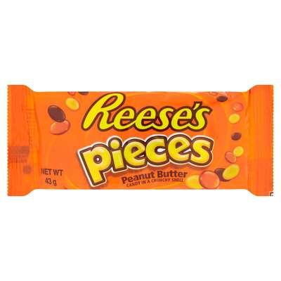 Шоколадное драже с арахисовой пастой в глазури Reese's pieces 43 гр, фото 1