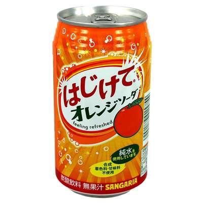 Sangaria Orange Газированный напиток со вкусом апельсина 350 мл, фото 1