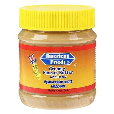 Арахисовая паста с мёдом American Fresh Honey Peanut Butter 340 гр, фото 1