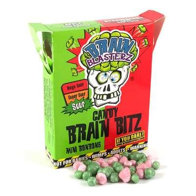 Кислое драже яблоко и клубника Brain Blasterz Candy Brain Bitz 45 гр, фото 2