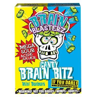 Кислое драже лимон и малина Brain Blasterz Candy Brain Bitz 45 гр, фото 3