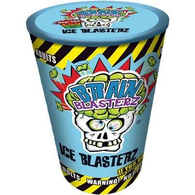 Кислые леденцы голубая банка 4 вкуса Brain Blasterz Ice 48 гр, фото 4