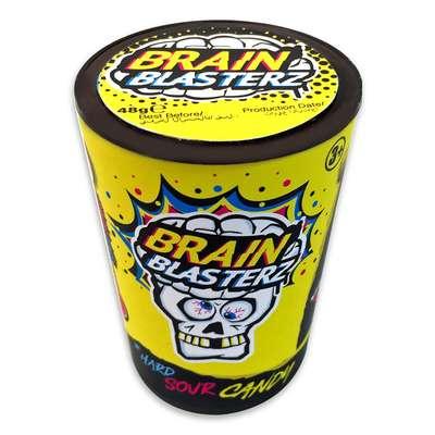 Самые кислые леденцы желтая банка 4 вкуса Brain Blasterz 48 гр, фото 3
