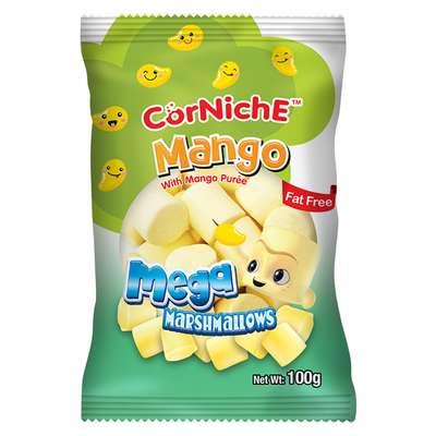 Зефир мега маршмеллоу манго Mango Mega CorNiche 100 гр, фото 1