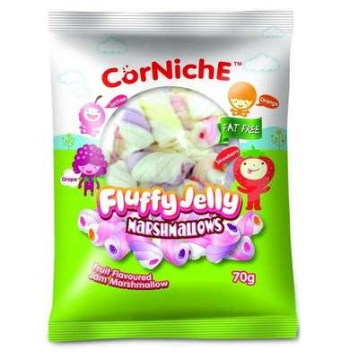 Воздушное желе CorNiche Fluffy Jelly Marshmallows 70 гр, фото 1