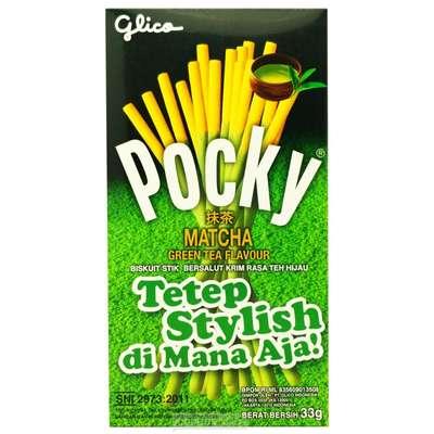 Палочки в креме зеленого чая матча Biscuit Stick Green Tea Pocky 33 гр, фото 1