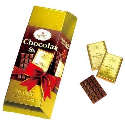 Золотой Слиток молочный шоколад Heidel Large Gold Bar 80 гр, фото 2