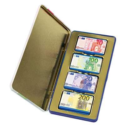 Молочный шоколад в коробке жесть Heidel Euro Money Box 60 гр, фото 1