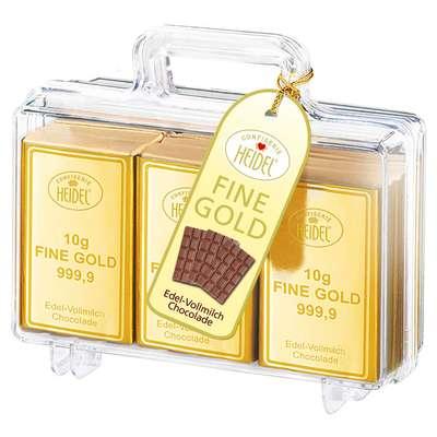 Сувенирный чемоданчик с золотом молочного шоколада Heidel 120 гр, фото 1