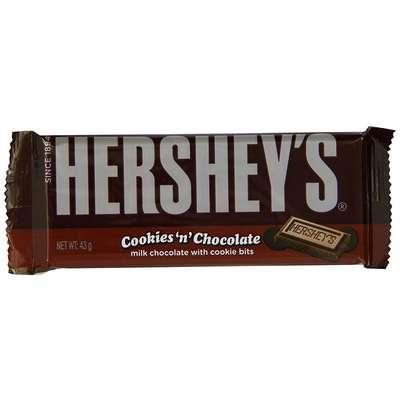 Молочный шоколад с печеньем Hershey's Cookies'n'Chocolate 43 гр, фото 1