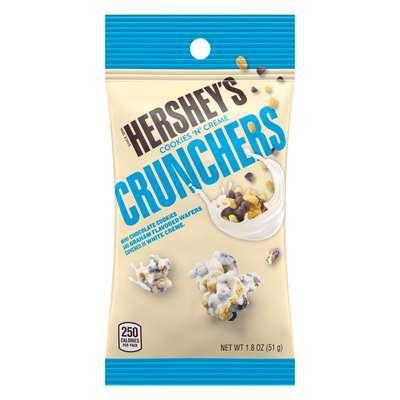 Хрустящие конфеты в белом шоколаде Hershey's Crunchers 51 гр, фото 1