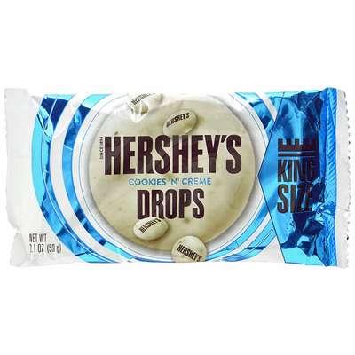 Драже в белом шоколаде Hershey's Cookies'n'Creme Drops King Size 59 гр, фото 1