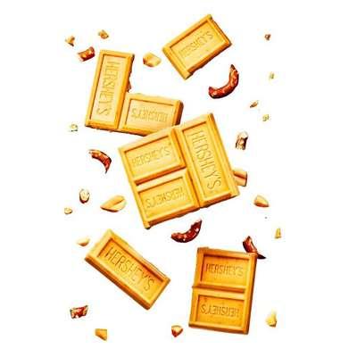 Карамельный крем шоколад соленые арахис и крендельки Hershey's Gold Peanuts & Pretzels 39 гр, фото 4