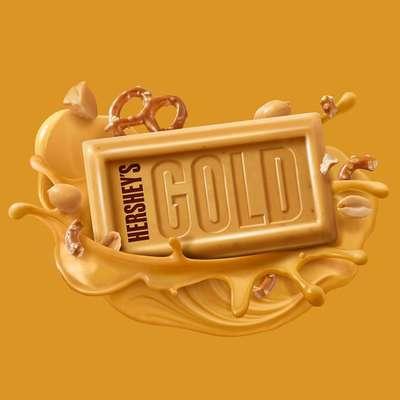 Карамельный крем шоколад соленые арахис и крендельки Hershey's Gold Peanuts & Pretzels 39 гр, фото 5