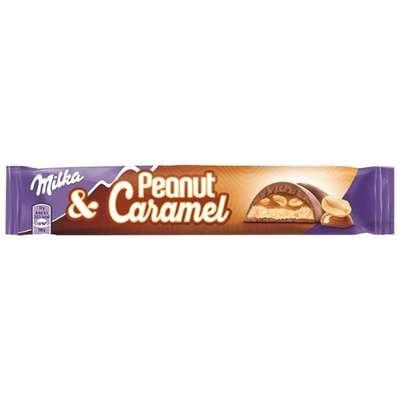 Шоколадный батончик с арахисом и карамелью Milka Peanut & Caramel 37 гр, фото 1