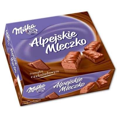 Шоколадное птичье молоко Milka Alpine Milk Choco 330 гр, фото 1