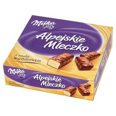 Птичье молоко ваниль в молочном шоколаде Milka Alpine Milk 330 гр, фото 1