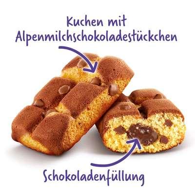 Бисквитные кексы с шоколадной начинкой Milka Cake & Choc 175 гр, фото 2