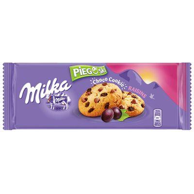 Печенье с изюмом и кусочками шоколада Milka Choco Cookies with Raisins 135 гр, фото 1