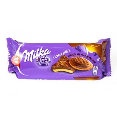 Бисквит с какао кремом в шоколаде Milka Jaffa Chocolate Muss 128 гр, фото 1
