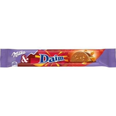 Батончик молочного шоколада с кусочками карамели Milka Daim 37 гр, фото 1