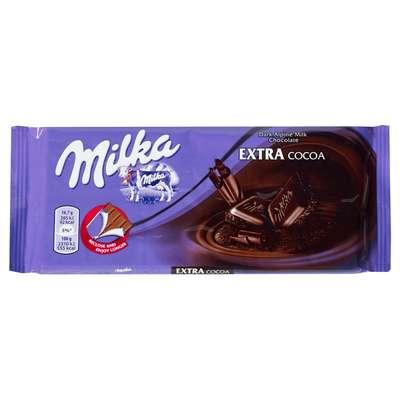 Темный шоколад Milka Extra Cacao Dark 100 гр, фото 1