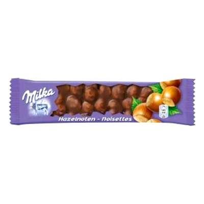 Шоколадный батончик с цельным фундуком Milka Hazelnoten Noisettes 45 гр, фото 1