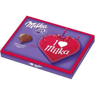 Подарочный набор конфет с ореховым кремом Milka I Love 110 гр, фото 1