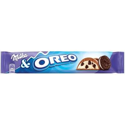 Шоколадный батончик с кремовой начинкой и печеньем Milka & Oreo 37 гр, фото 1