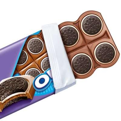 Молочный шоколад с целыми печеньками Milka Oreo Sandwich 92 гр, фото 2