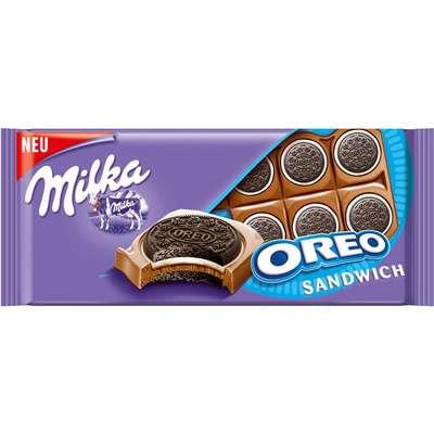 Молочный шоколад с целыми печеньками Milka Oreo Sandwich 92 гр, фото 1