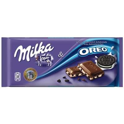 Молочный шоколад с начинкой из крошки печенья Milka&Oreo 100 гр, фото 1
