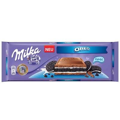 Большая плитка молочного шоколада с печеньем Milka Oreo 300 гр, фото 1